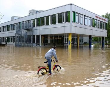 Hochwasser in Pfinztal am 31. Mai und 01. Juni 2013 (Foto: Gabi Zachmann)